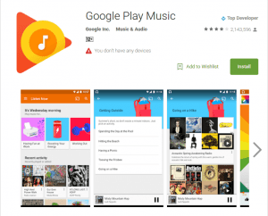 Google Play Music Apk for Android