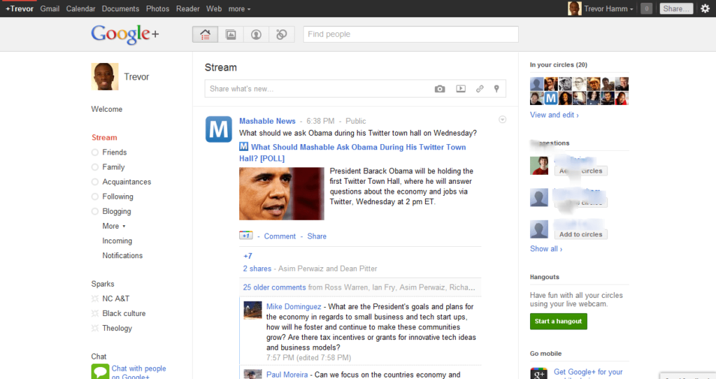 Google + for PC
