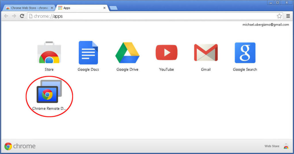 Google Chrome Remote Desktop for PC