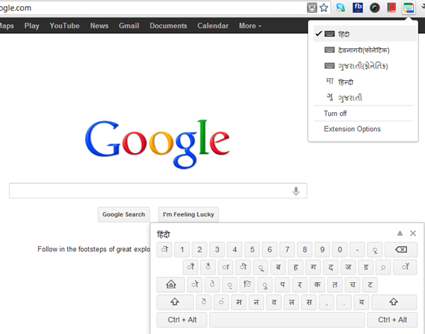 Google Hindi Input for PC