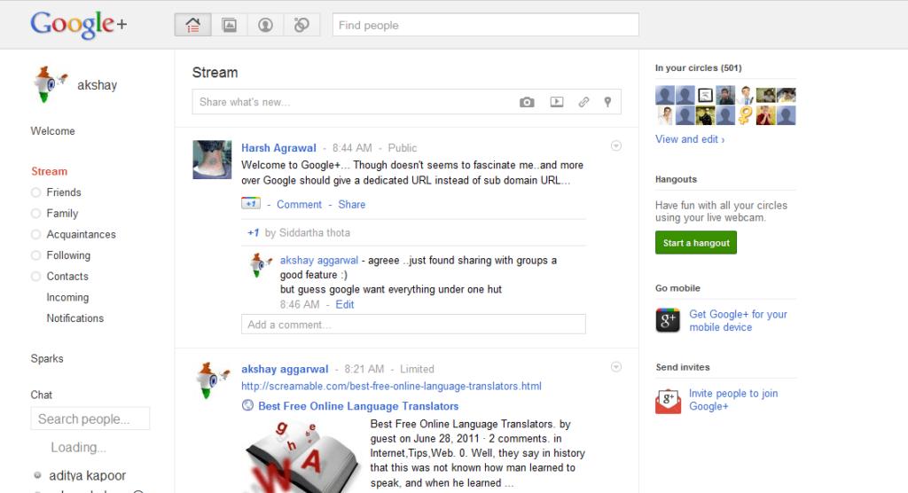 Google Plus for PC